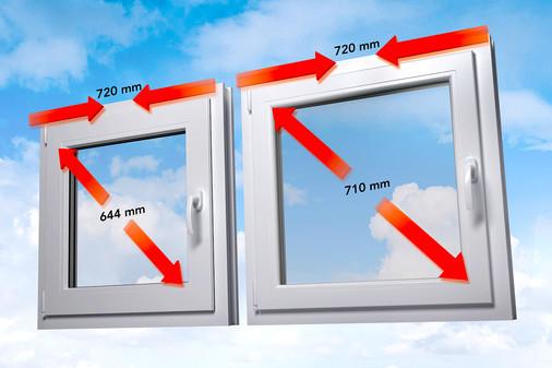 Kunststof kozijnen lichtdoorlating Standaard versus Energeto kozijnen
